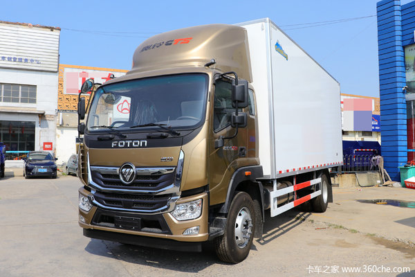 福田 奥铃大黄蜂 210马力 6.1米排半厢式载货车