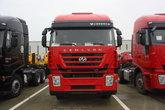 上汽红岩 杰狮重卡 350马力 8X4 9.55米栏板载货车(CQ1316HTVG466H)