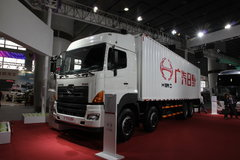 广汽日野 700系列重卡 350马力 8X4 9.6米厢式载货车(YC5310XXYFY2PY) 卡车图片