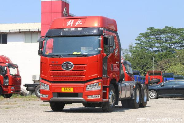 一汽解放 新J6P重卡 质惠版2.0 420马力 6X4牵引车