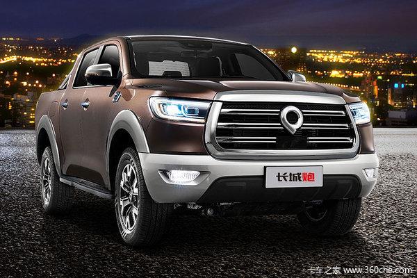 长城炮 2019款  乘用版 舒适型 2.0T汽油 190马力 两驱 8挡自动 双排皮卡(国六)