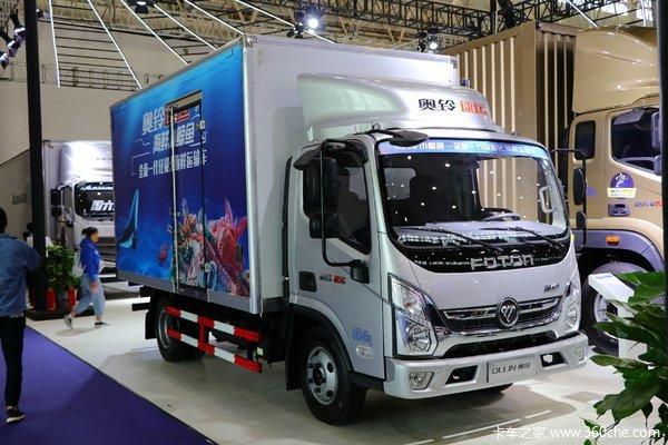 福田 奥铃速运 150马力 4.14米单排厢式轻卡(国六)