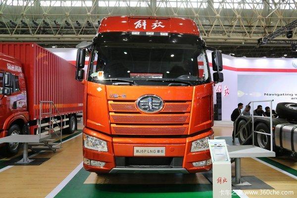 一汽解放 新J6P重卡 470马力 6X4 LNG牵引车
