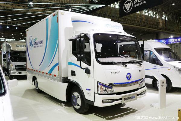 福田 欧马可智蓝 4.5T 4.14米单排纯电动厢式运输车(BJ5045XXYEV3)(箱宽2.1米)104.7kWh