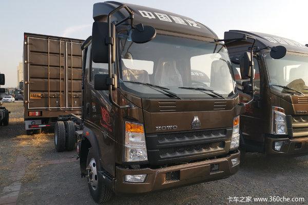 中国重汽HOWO 王系 科技版 110马力 4.15米单排仓栅轻卡