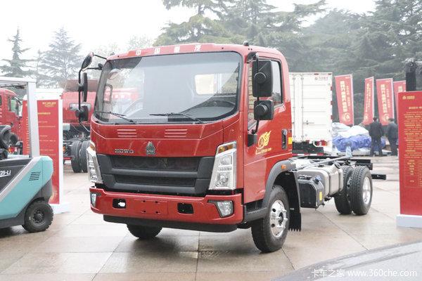 中国重汽HOWO 王系 110马力 4.165米单排栏板轻卡