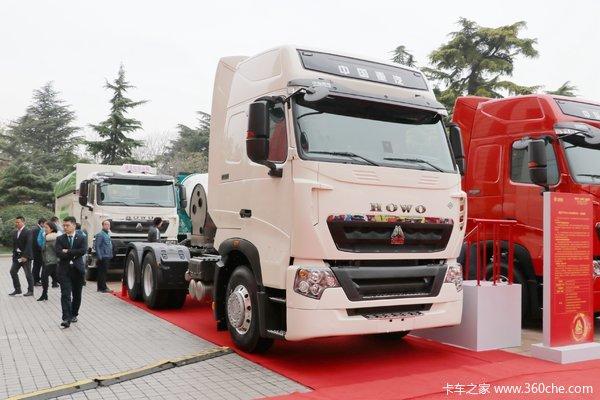 中国重汽 HOWO T7H重卡 440马力 6X4 LNG牵引车(国六)