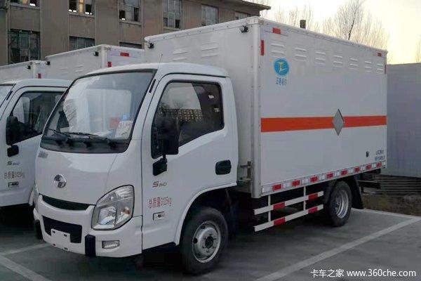 跃进 小福星S50 87马力 4X2 3.35米易燃气体厢式运输车