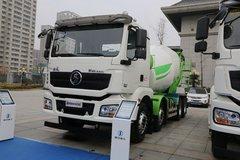 陕汽重卡 德龙新M3000 340马力 8X4 7.95方混凝土搅拌运输车