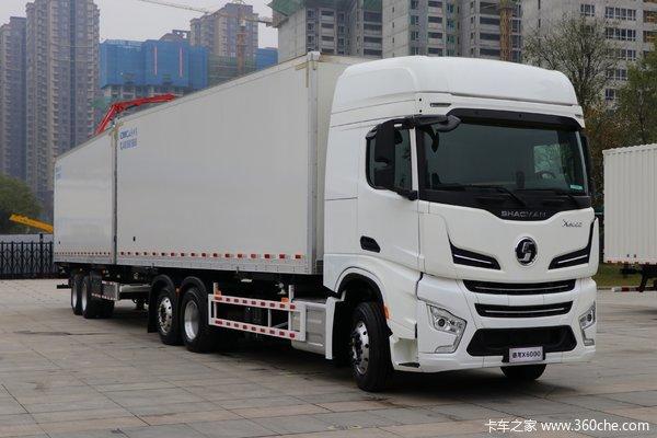 陕汽 德龙X6000 500马力 6X2 中置轴列车