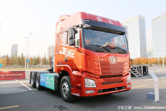 青岛解放 JH6重卡 6X4排半纯电动牵引车