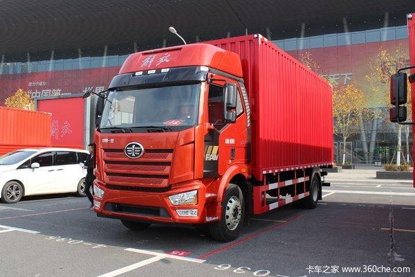 一汽解放 J6L中卡 质惠版 240马力 4X2 9.7米厢式载货车