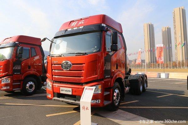 一汽解放 新J6P重卡 质惠版2.0 440马力 6X4 LNG牵引车