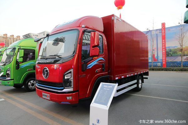 陕汽商用车 轩德翼9 速运版 156马力 4X2 4.15米单排厢式轻卡(国六)