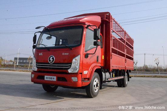 陕汽轻卡 德龙K3000 160马力 5.4米排半仓栅式轻卡(YTQ5120CCYKK421)