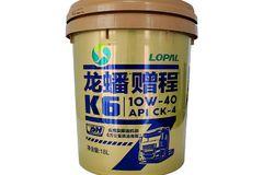 龙蟠 赠程K6 10W-40 CK-4 合成型柴机油 18L
