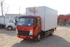中国重汽HOWO 悍将 116马力 4X2 4米冷藏车(ZZ5047XLCF3315E145)图片