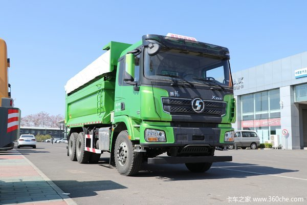 陕汽康明斯 德龙X3000 加强版 385马力 8X4 6.2米自卸车(SX33106C3061B)