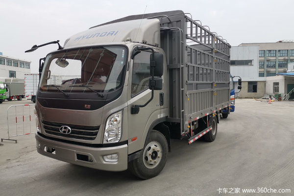 现代商用车 致道500M 重载版 156马力 4.165米单排仓栅轻卡