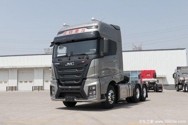 江铃重汽 威龙HV5重卡 530马力 6X4 AMT自动挡牵引车(国六)