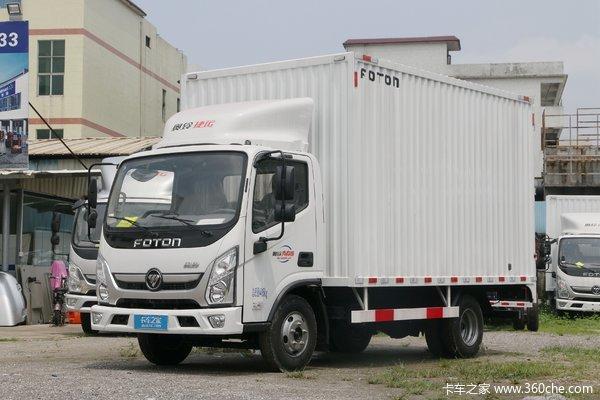 福田 奥铃新捷运 青春版 116马力 4.14单排厢式轻卡