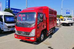 现代商用车 泓图300 143马力 3.85米排半仓栅式轻卡(CNJ5040CCYZDB33V) 卡车图片