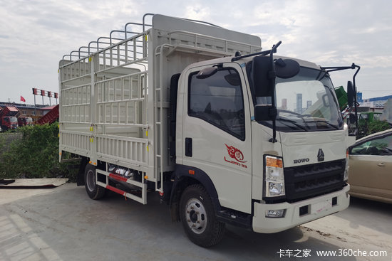 中国重汽HOWO 悍将 160马力 4.15米单排仓栅轻卡(星瑞6挡)(ZZ5047CCYG3315F142)