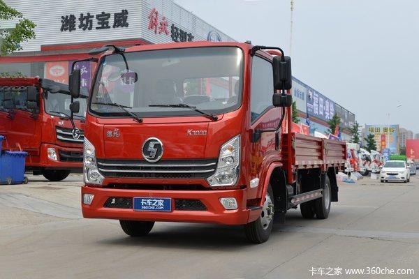 陕汽轻卡 德龙K3000 轻载版 舒适型 110马力 4.18米单排栏板轻卡