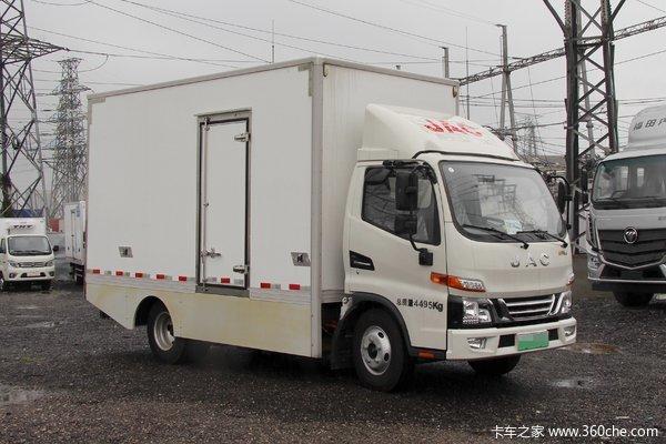 江淮新能源轻卡全铝合金车厢整车不超重,续航能力强强