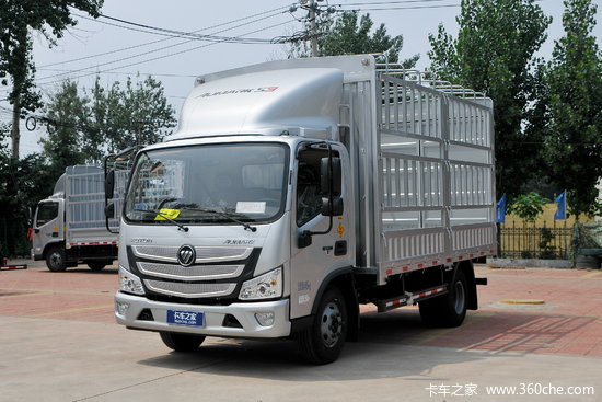 福田 欧马可S3系 150马力 4.18米单排仓栅式轻卡(国六)(BJ5048CCY-F3)