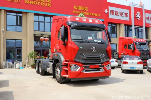 中国重汽 豪瀚N7G重卡 440马力 6X4 LNG危险品牵引车(国六)