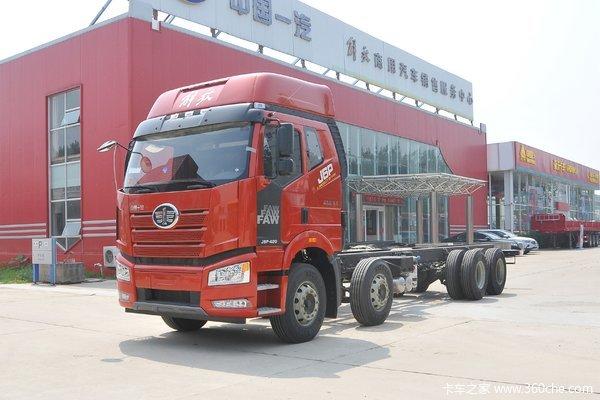 新车到店 上海福喜汽销解放J6P420马力载货车仅需28.5万元