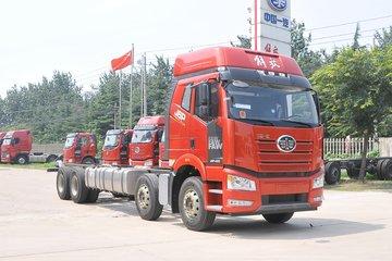 一汽解放 新J6P重卡 质惠版绿通 420马力 8X4 9.5米栏板载货车