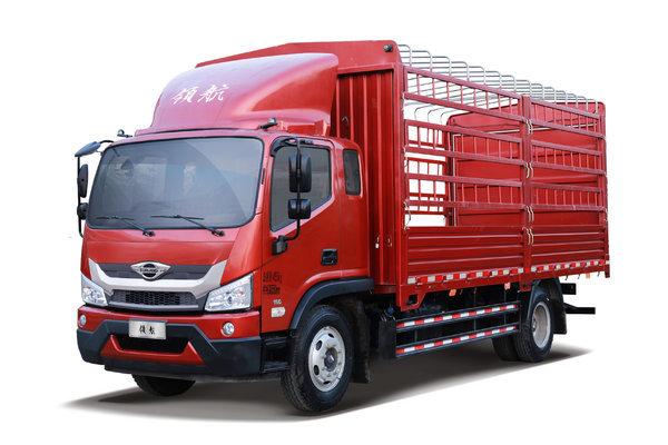 福田 时代领航ES5 170马力 4X2 6.8米排半仓栅式载货车