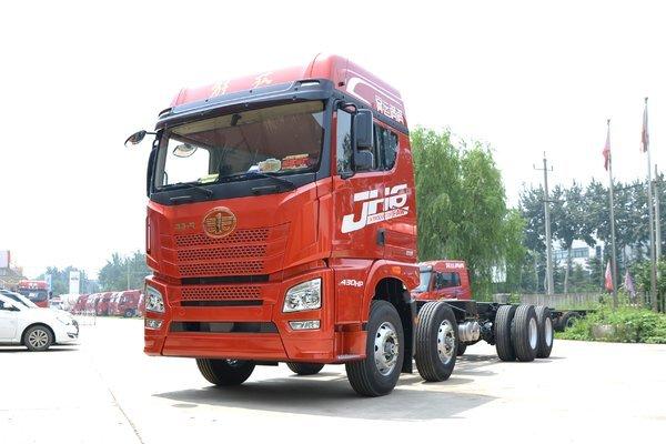 青岛解放 JH6重卡 460马力 8X4 9.5米栏板载货车(后桥435)