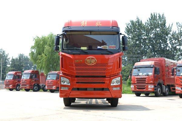 青岛解放 JH6重卡 460马力 8X4 9.5米栏板载货车(自动挡)