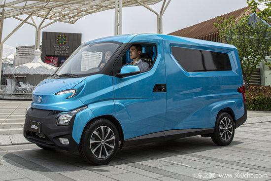 飞碟 Q2V系列 2.6T 2座 2.38米纯电动厢式运输车41.86kWh