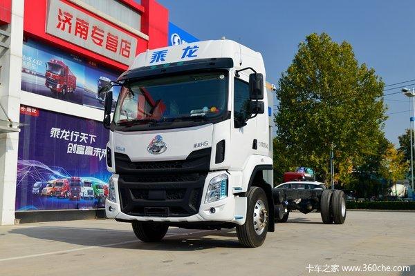 东风柳汽 乘龙H5中卡 270马力 4X2 9.6米厢式载货车(9T后桥)