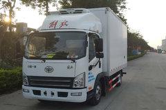 解放 虎V 150马力 4X2 4.13米冷藏车(CA5040XLCP40K61L2E5A84)