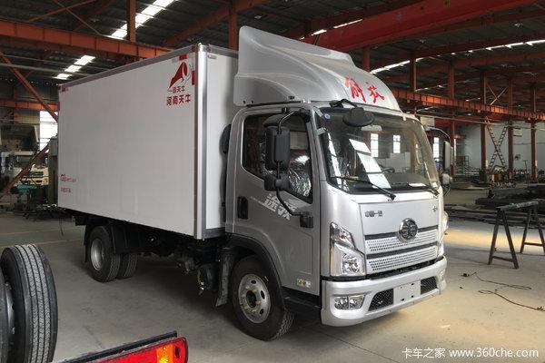 解放 领途 160马力 4X2 4.13米冷藏车(大柴)(中体)