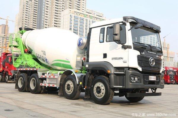 陕汽重卡 德龙M3000S 350马力 8X4 混凝土搅拌车(国六)