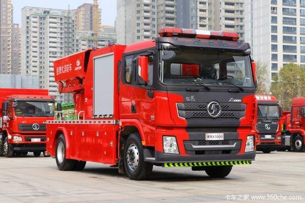 陕汽重卡 德龙X3000 350马力 4X2 投弹式消防车(骏通牌)