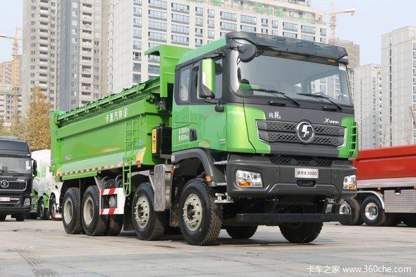 陕汽重卡 德龙X3000 城建标准版 430马力 8X4 6.5米自卸车(国六)(SX33195D326)