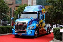 江淮 格尔发V7重卡 560马力 6X4 AMT自动挡长头牵引车(国六b)(定制彩绘)(HFC4253C1K7E45KS) 卡车图片