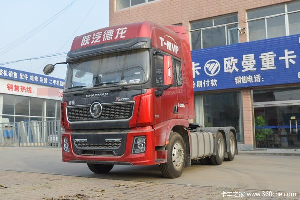 陕汽重卡 德龙X5000 轻量化版 460马力 6X4 LNG牵引车(国六)