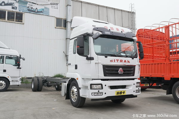 中国重汽 汕德卡SITRAK G5重卡 240马力 4X2 9.6米厢式载货车