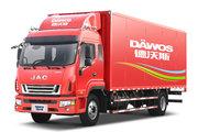 江淮 德沃斯V9中卡 220马力 4X2 6.8米排半厢式载货车(国五)(HFC5180XXYP91K1D4NV)