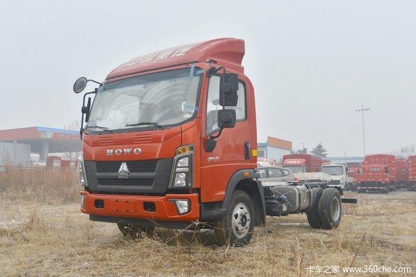 中国重汽HOWO 统帅 160马力 4.165米单排栏板轻卡(8挡)