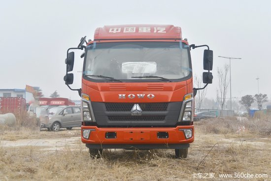 中国重汽HOWO 统帅 154马力 4.15米单排仓栅式轻卡(ZZ5047CCYF331BE143)