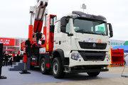 中国重汽 HOWO TX重卡 440马力 10X4 折臂随车吊(国六)(宏昌天马牌)(H6680)(HCM5532JQZ)